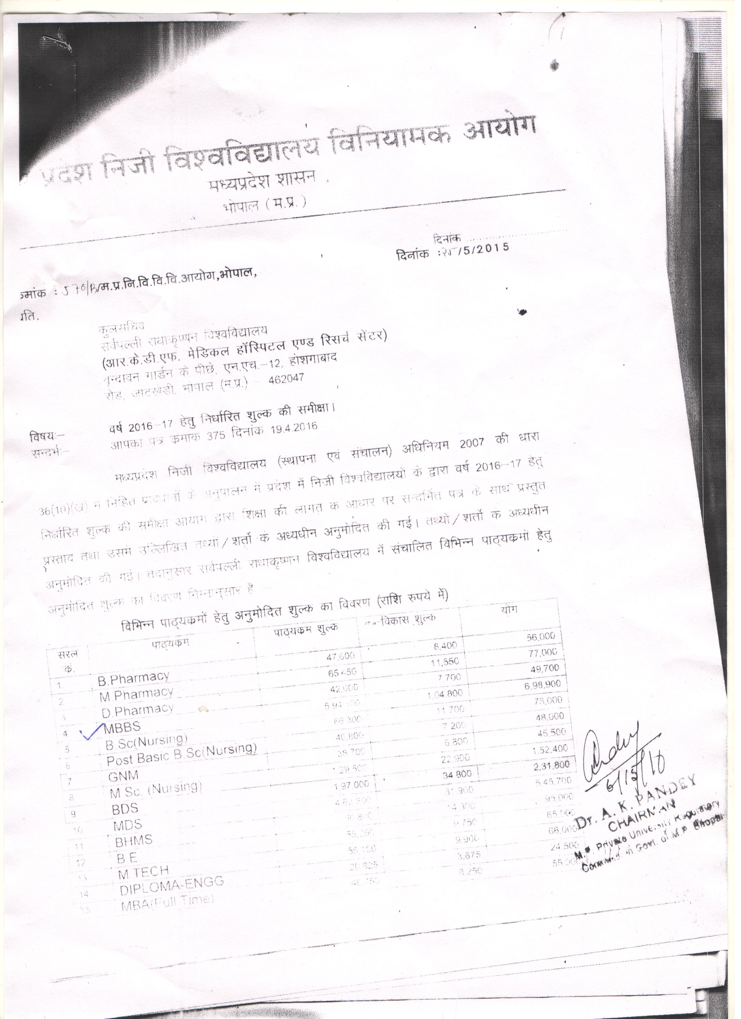 Directorate Of Medical Education Government Of Madhya